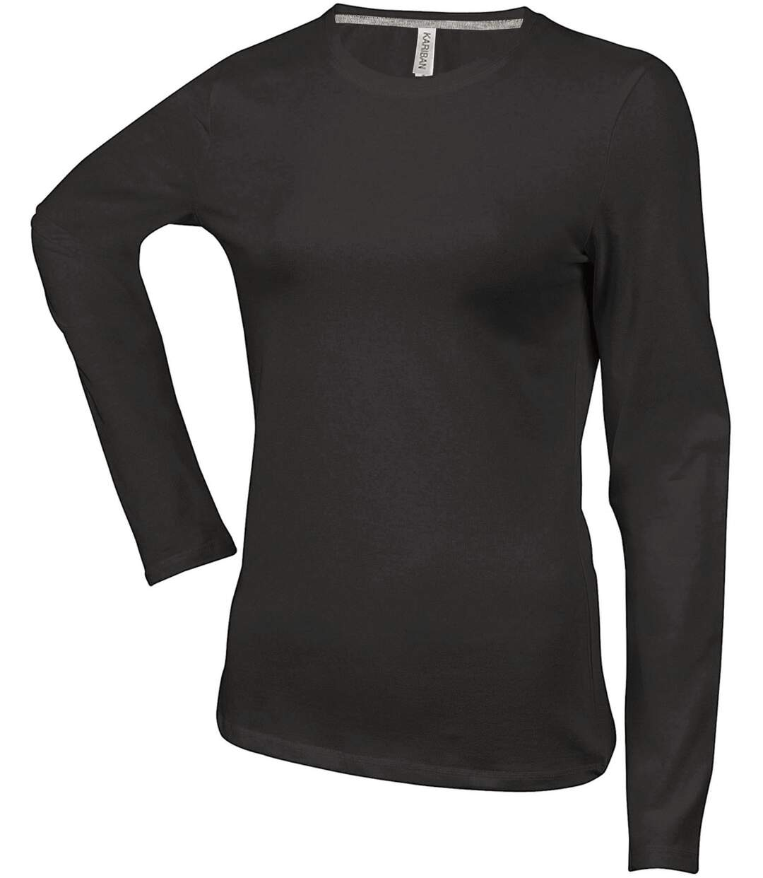 T-SHIRT COL ROND MANCHES LONGUES FEMME