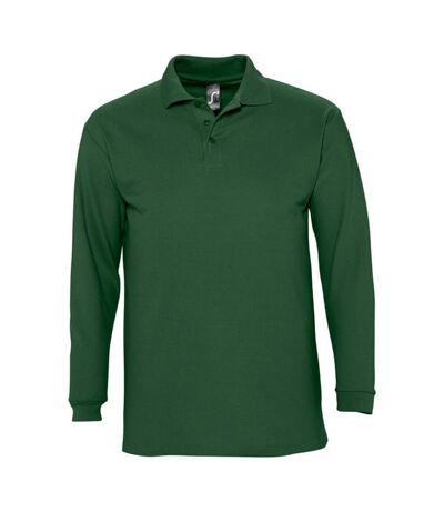SOLS Mens Winter II Long Sleeve Pique Cotton Polo Shirt (Golf Green) - UTPC329