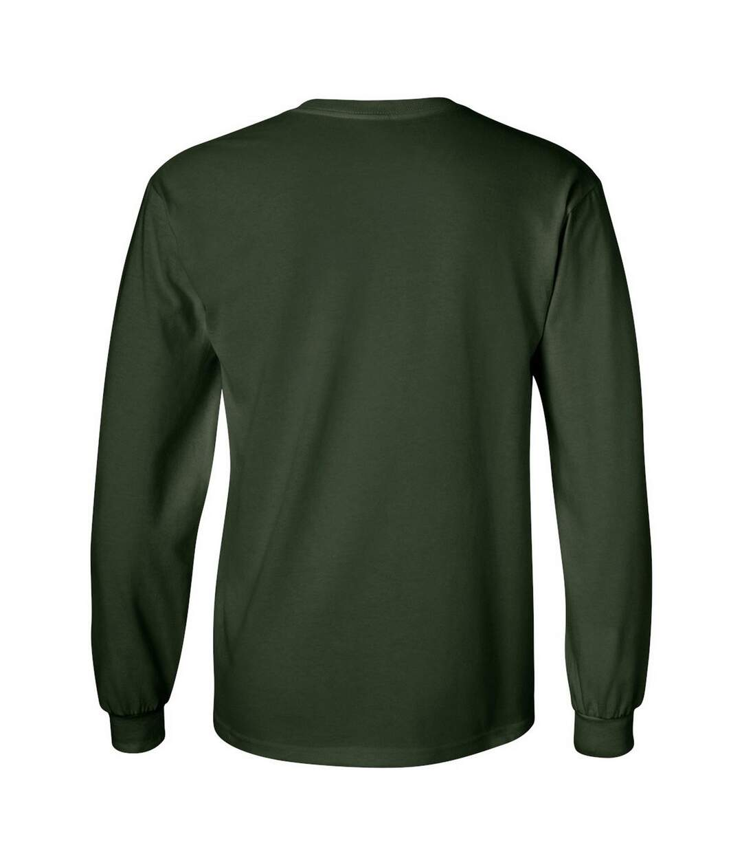 Gildan Mens Plain Crew Neck Ultra Cotton Long Sleeve T-Shirt (Light Blue) - UTBC477