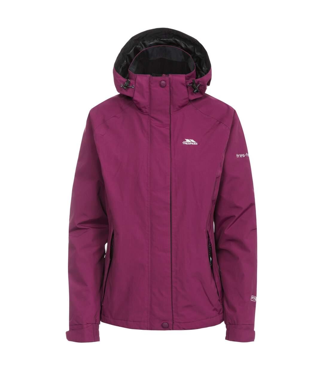 Trespass Womens/Ladies Florissant Hooded Waterproof Jacket (Grape Wine) - UTTP170
