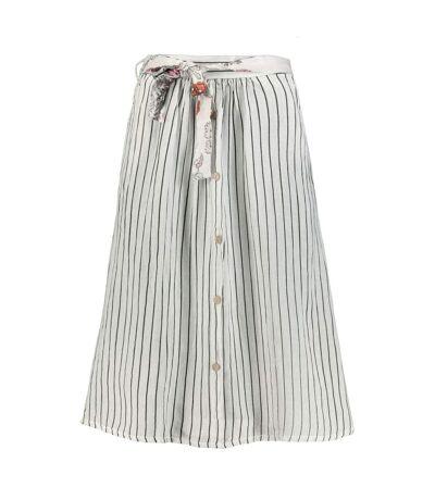 Jupe Gina Laura boutons rayés blanc NOUVEAU, décontracté, confortable, à la mode, élégant
