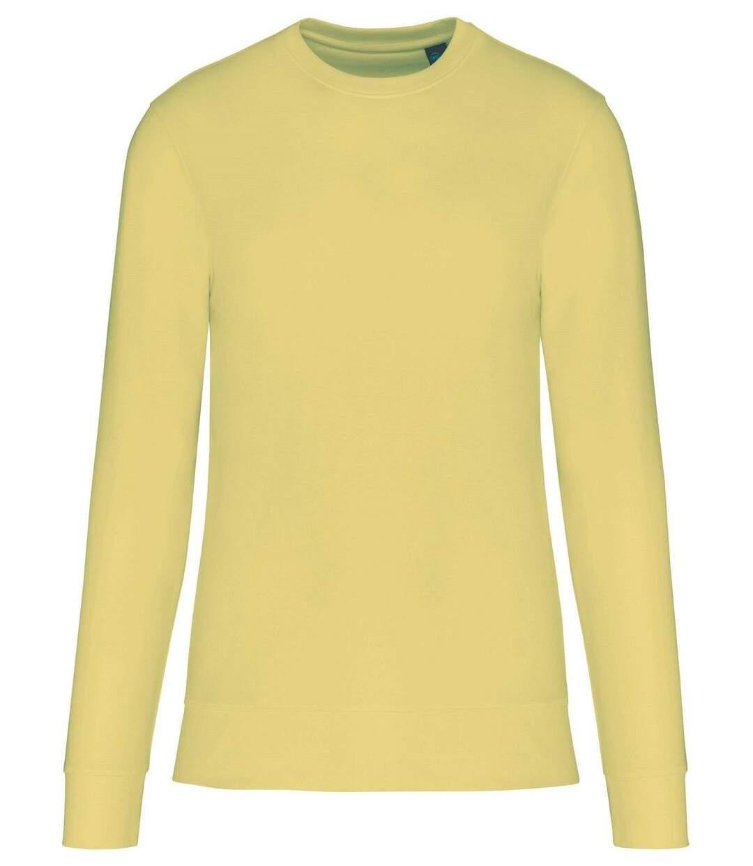 Sweat col rond écoresponsable - Mixte - K4025 - jaune citron