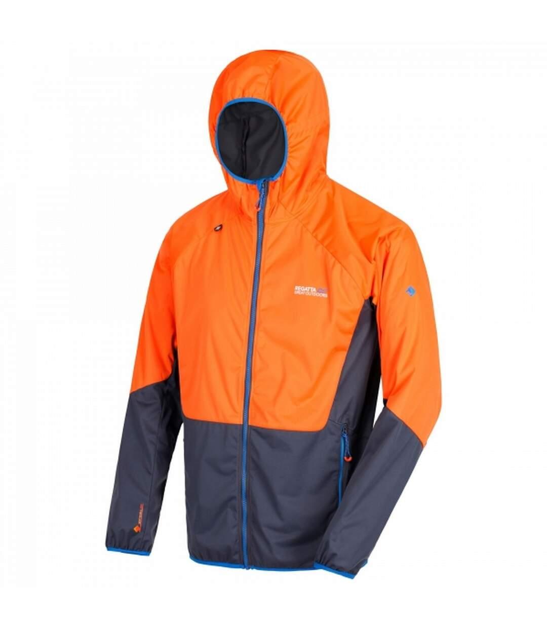 Regatta Mens Tarvos Hooded Jacket (Bright Red Orange/Granite Grey) - UTRG3666
