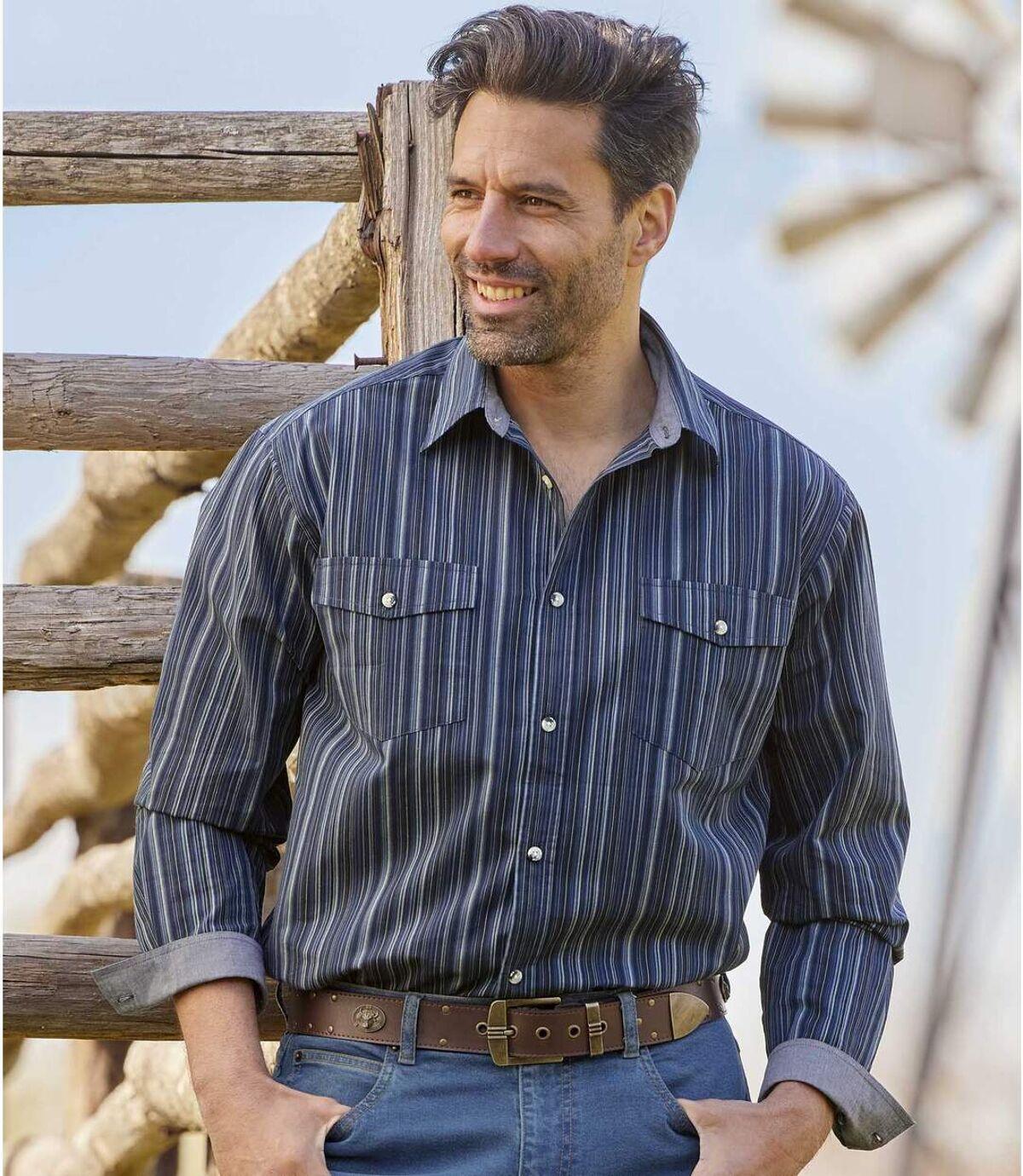 Popelínová košeľa Montana Atlas For Men