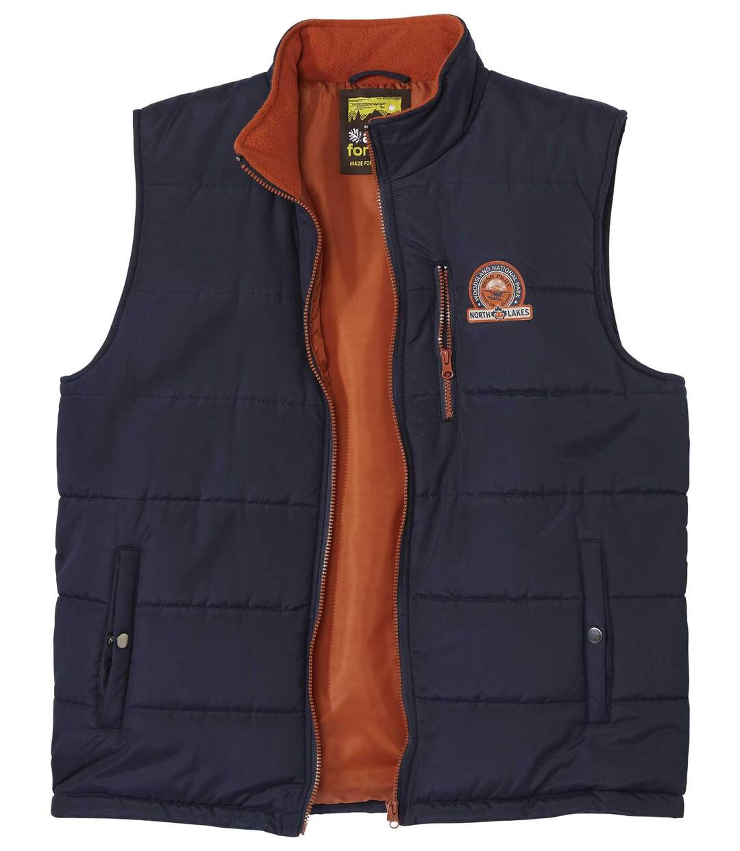Men's Navy Padded Bodywarmer - Canadian Lakes