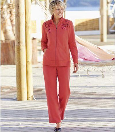 Women's Coral Pink Loungewear Set