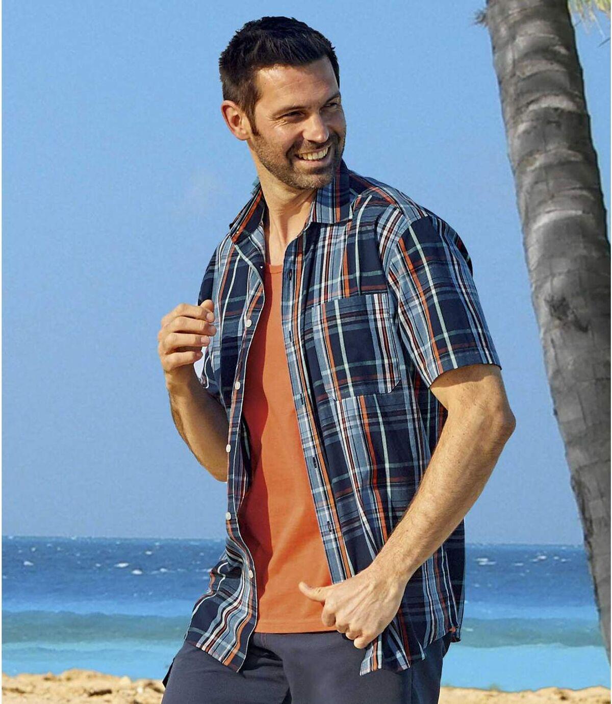 Geruit zomeroverhemd Cocktail Atlas For Men