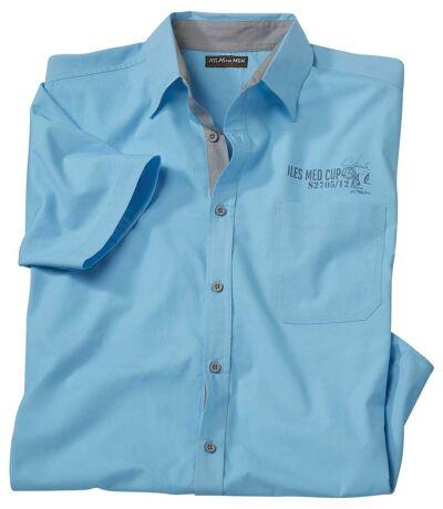 Men's Turquoise Short Sleeve Shirt