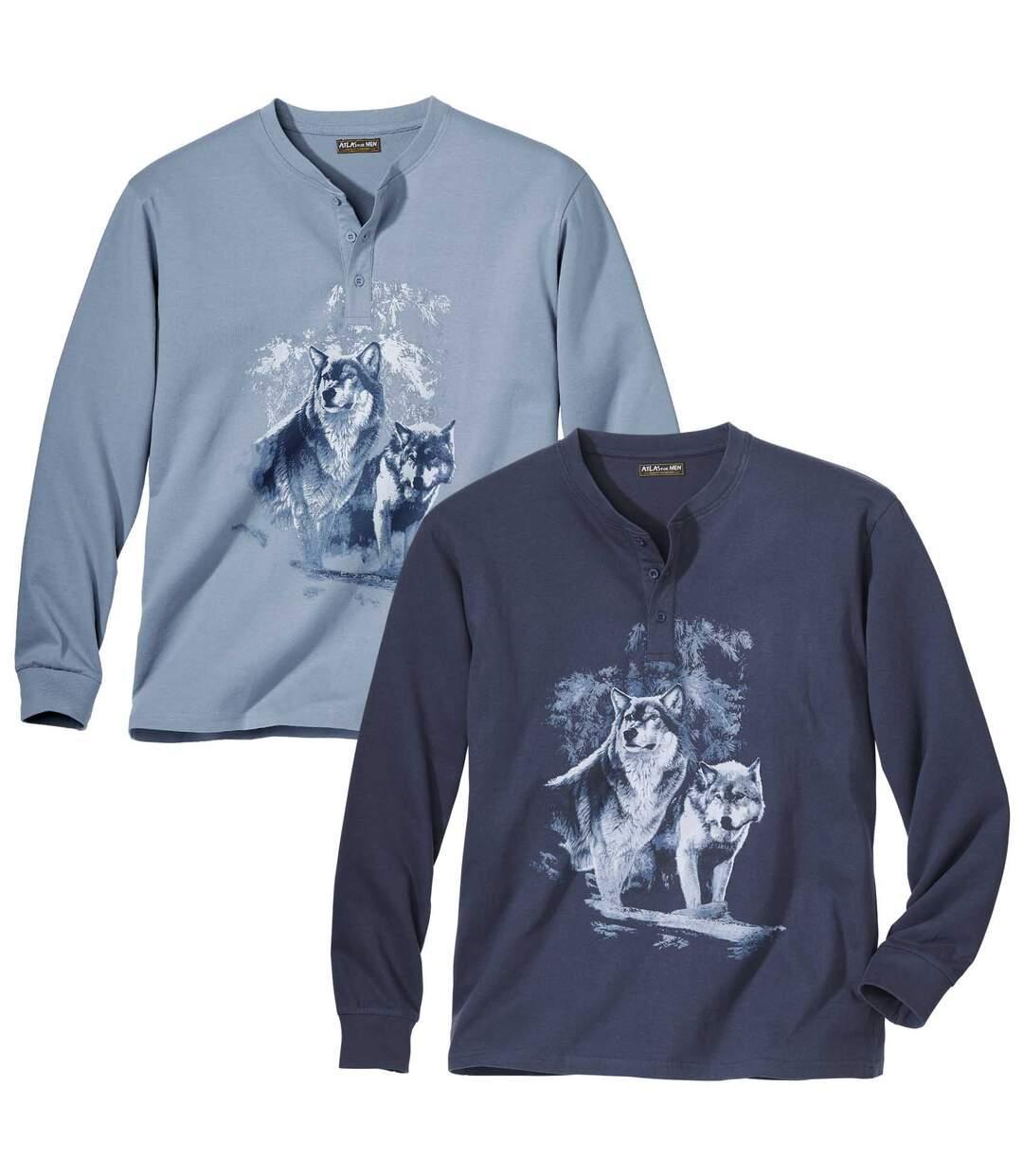 Két darabos tunéziai nyakú Loups póló szett