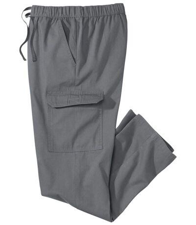 Men's Grey Casual Cargo Pants