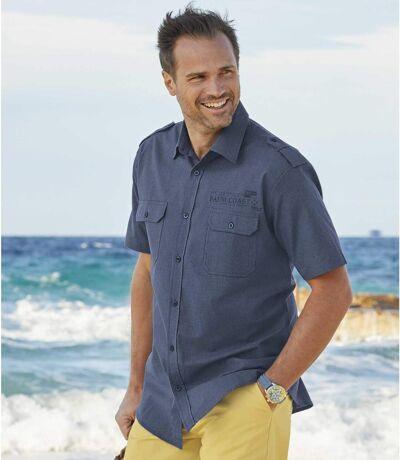 Men's Blue Expedition Aviator Shirt