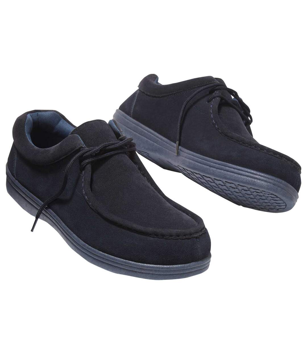 Men's Navy Leather Outdoor Shoes