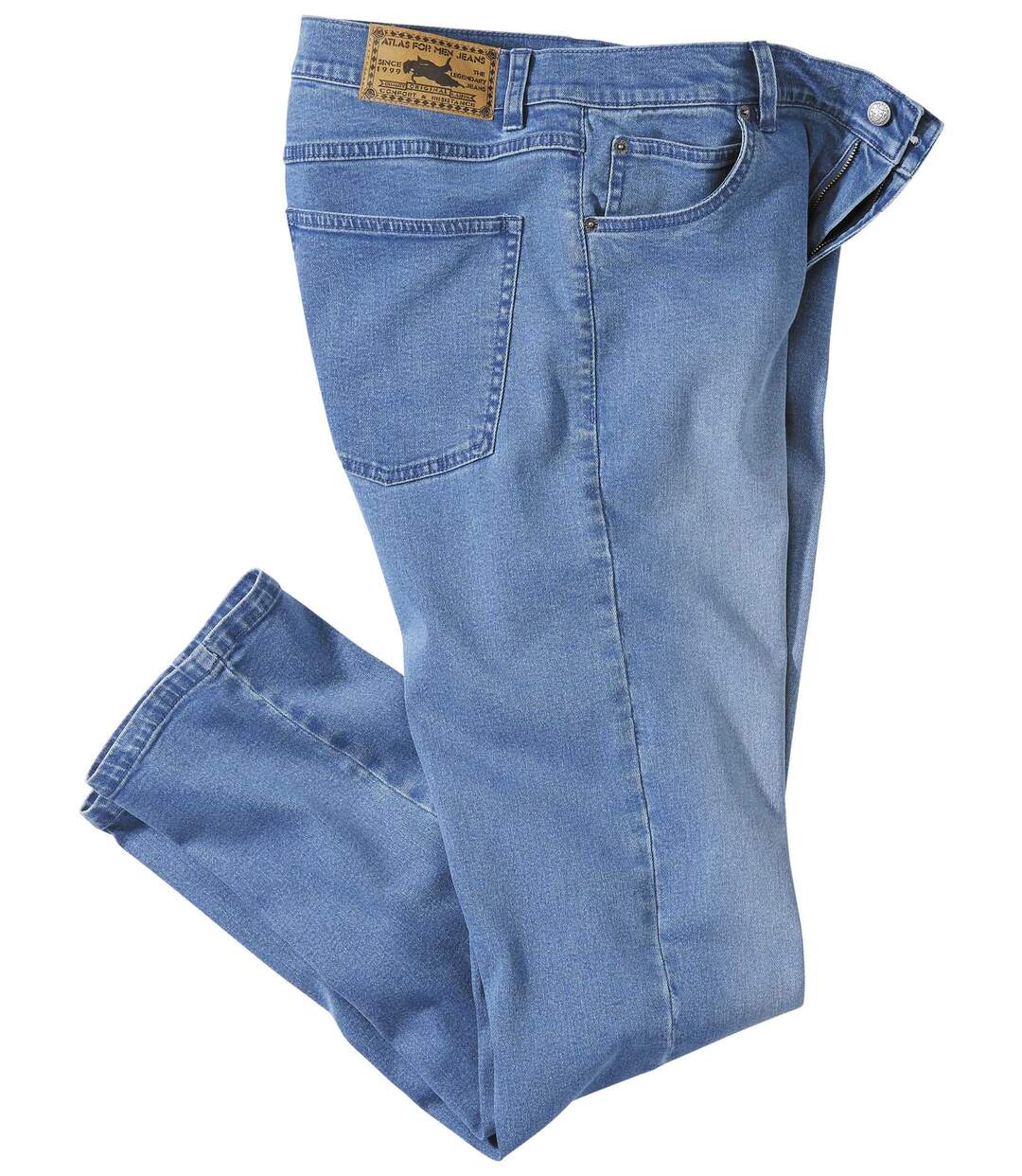 Jasnoniebieskie jeansy Regular ze stretchem