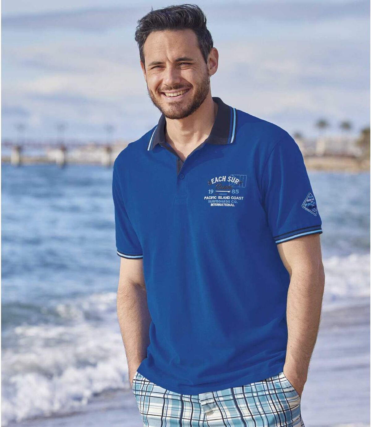 Sada 2 piké polo triček Pacific Coast Atlas For Men