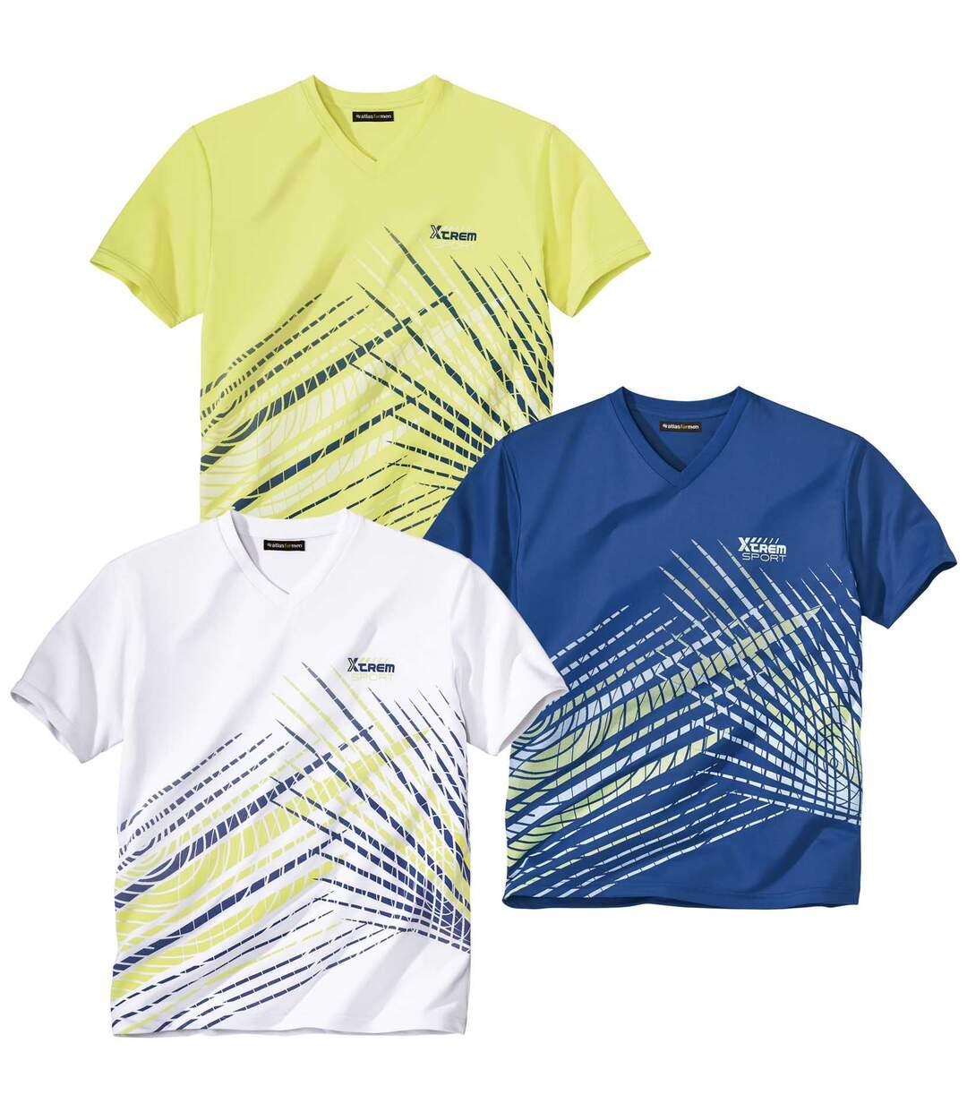 Set van 3 sportieve T-shirts met V-hals  Atlas For Men