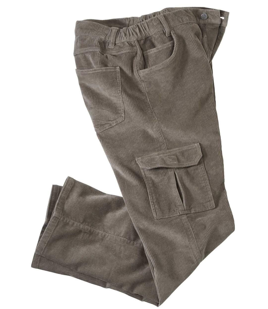 Welurowe spodnie bojówki