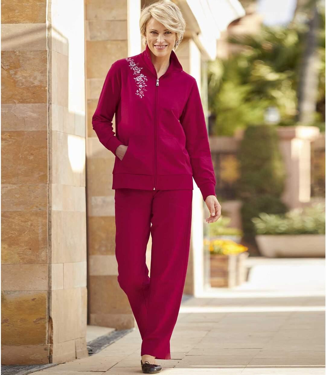 Women's Fleece Loungewear Set - Bright Pink