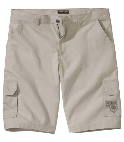 Men's Ecru Summer Cargo Shorts