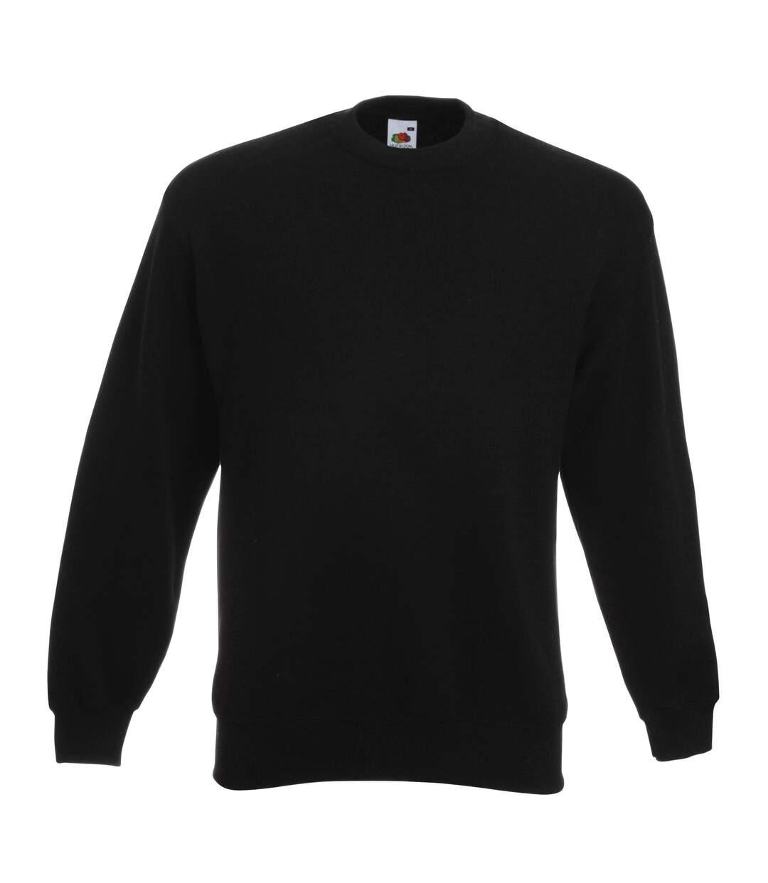Fruit Of The Loom Unisex Premium 70/30 Set-In Sweatshirt (Chocolate) - UTRW3159