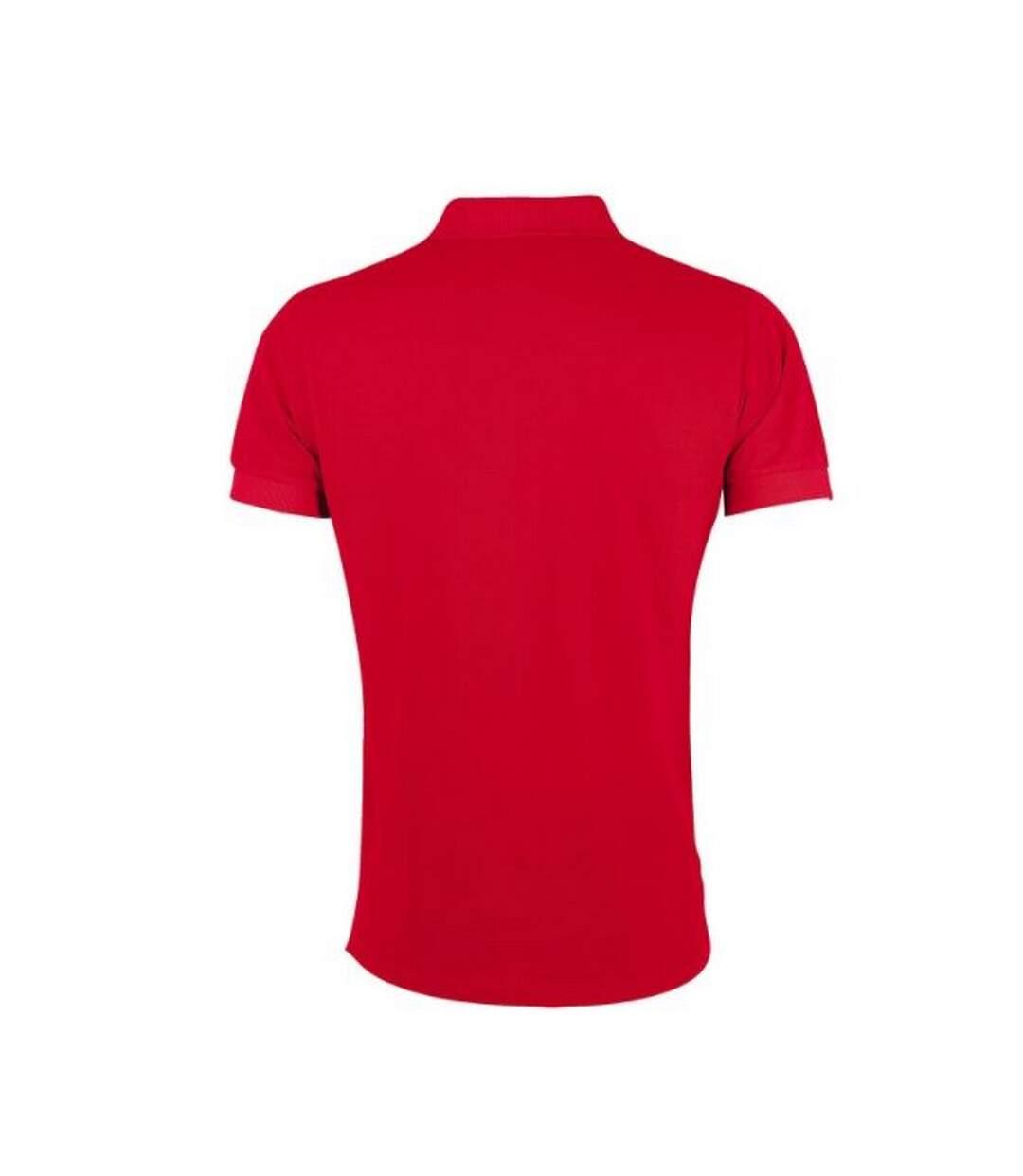 SOLS Mens Portland Short Sleeve Pique Polo Shirt (Red) - UTPC2183