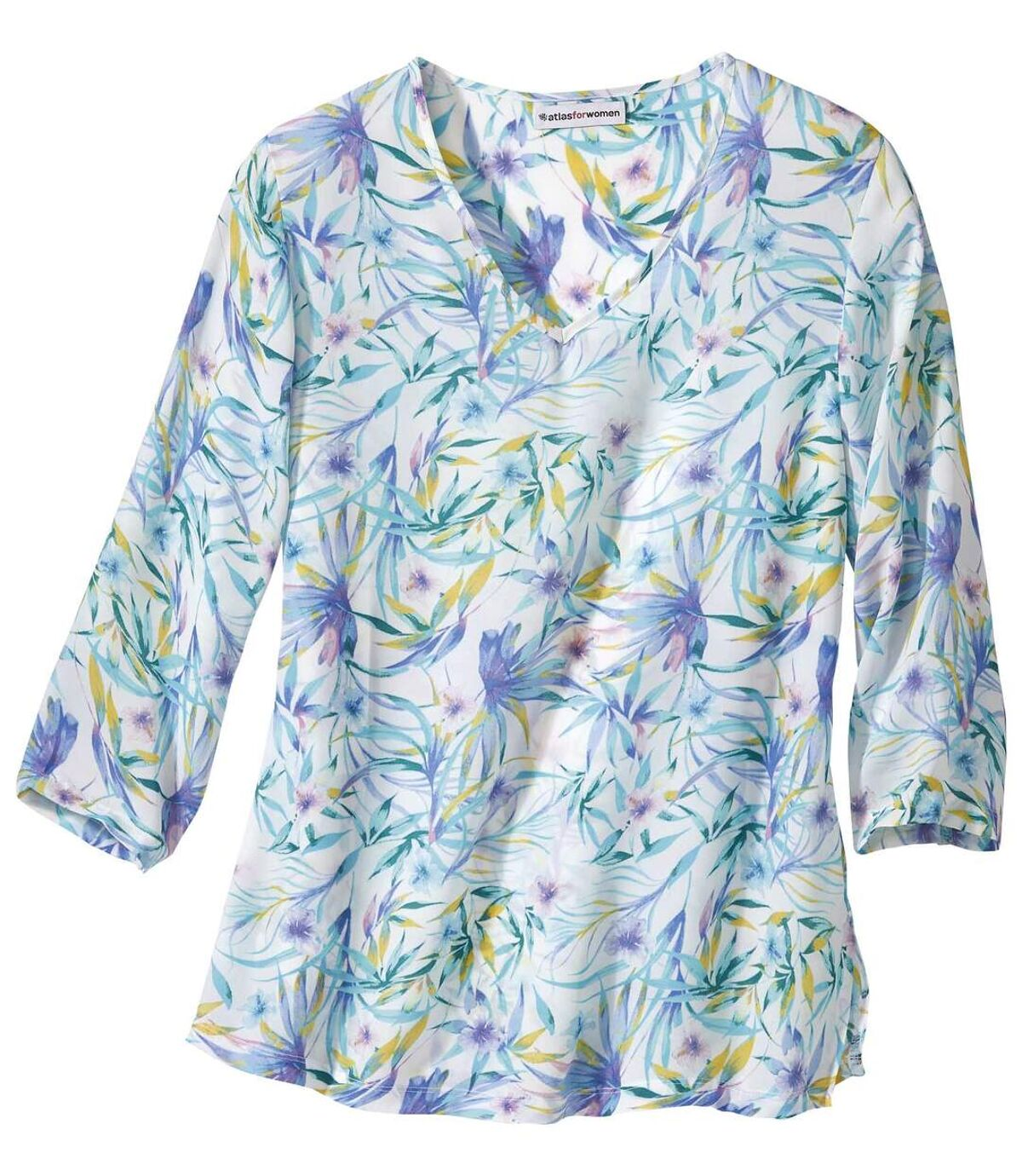 Krepp-Bluse mit Frühlings-Motiv Atlas For Men
