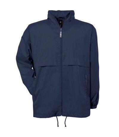 B&C Mens Air Lightweight Windproof, Showerproof & Water Repellent Jacket (Navy Blue) - UTBC1281