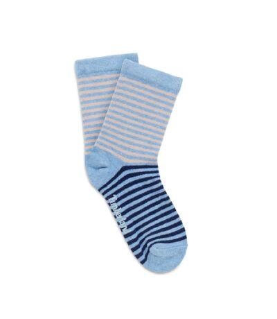 Timberland Womens/Ladies Striped Ankle Socks (2 Pairs) (Blue) - UTUT426