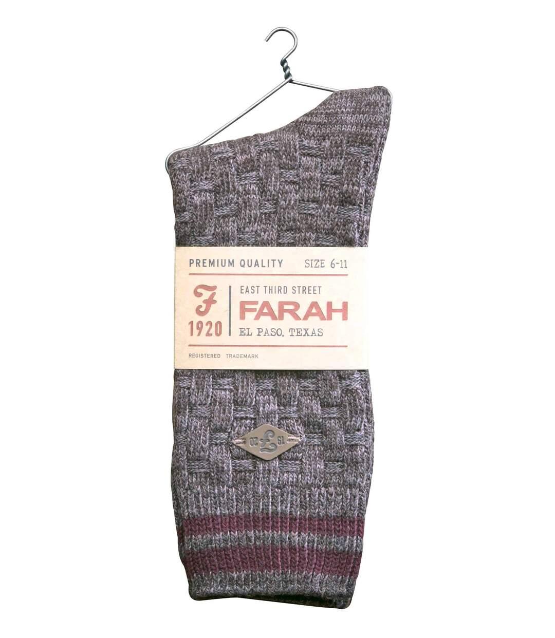 2 Pk Mens Cotton Chunky Knitted Formal Boot Socks