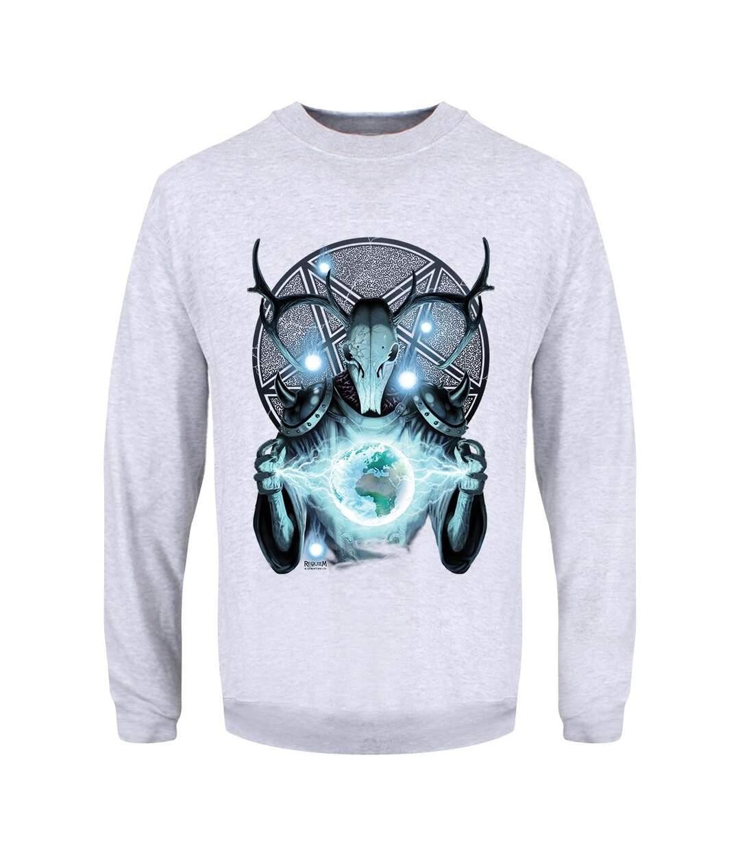 Requiem Collective Mens Infernal Messenger Sweatshirt (Heather Grey) - UTGR1942