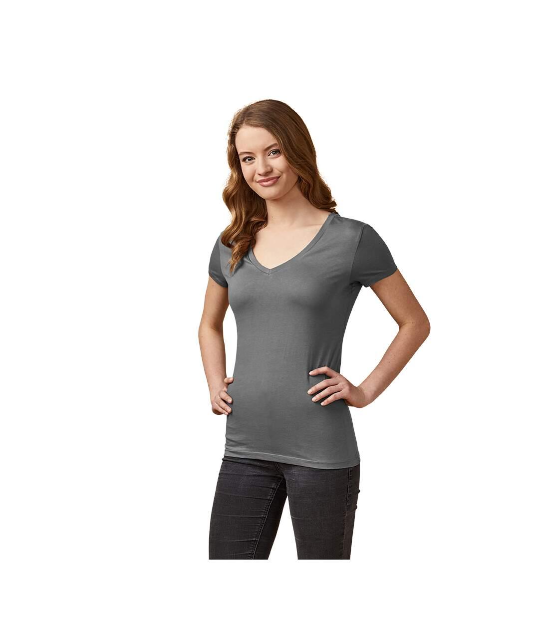 T-shirt col V Femmes
