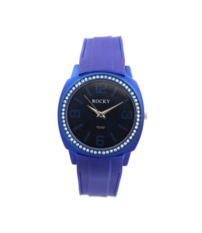 Montre Femme ROCKY bracelet Silicone Bleu