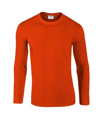 Gildan Mens Soft Style Long Sleeve T-Shirt (Pack Of 5) (Orange) - UTBC4808