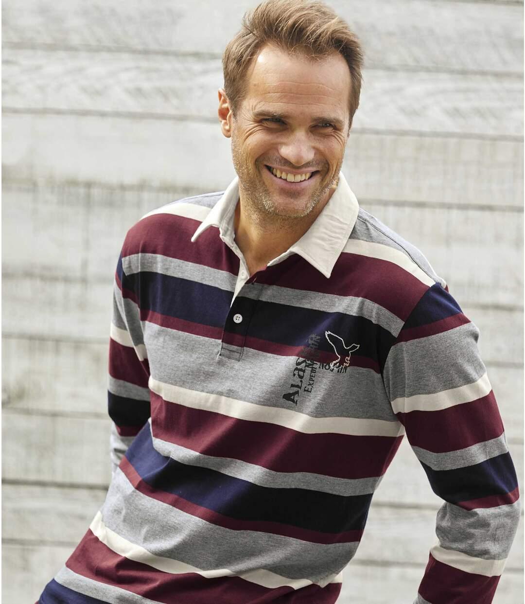 "Gestreiftes Poloshirt ""Rugby"""
