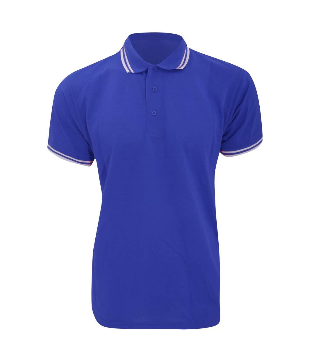 Kustom Kit Mens Tipped Piqué Short Sleeve Polo Shirt (Royal/White) - UTBC613