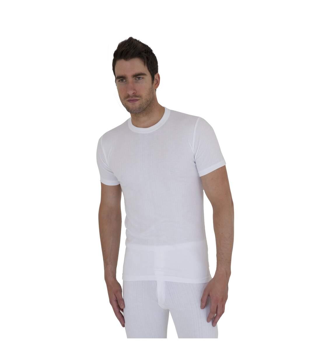 T-shirt thermique à manches courtes - Homme (Blanc) - UTTHERM2