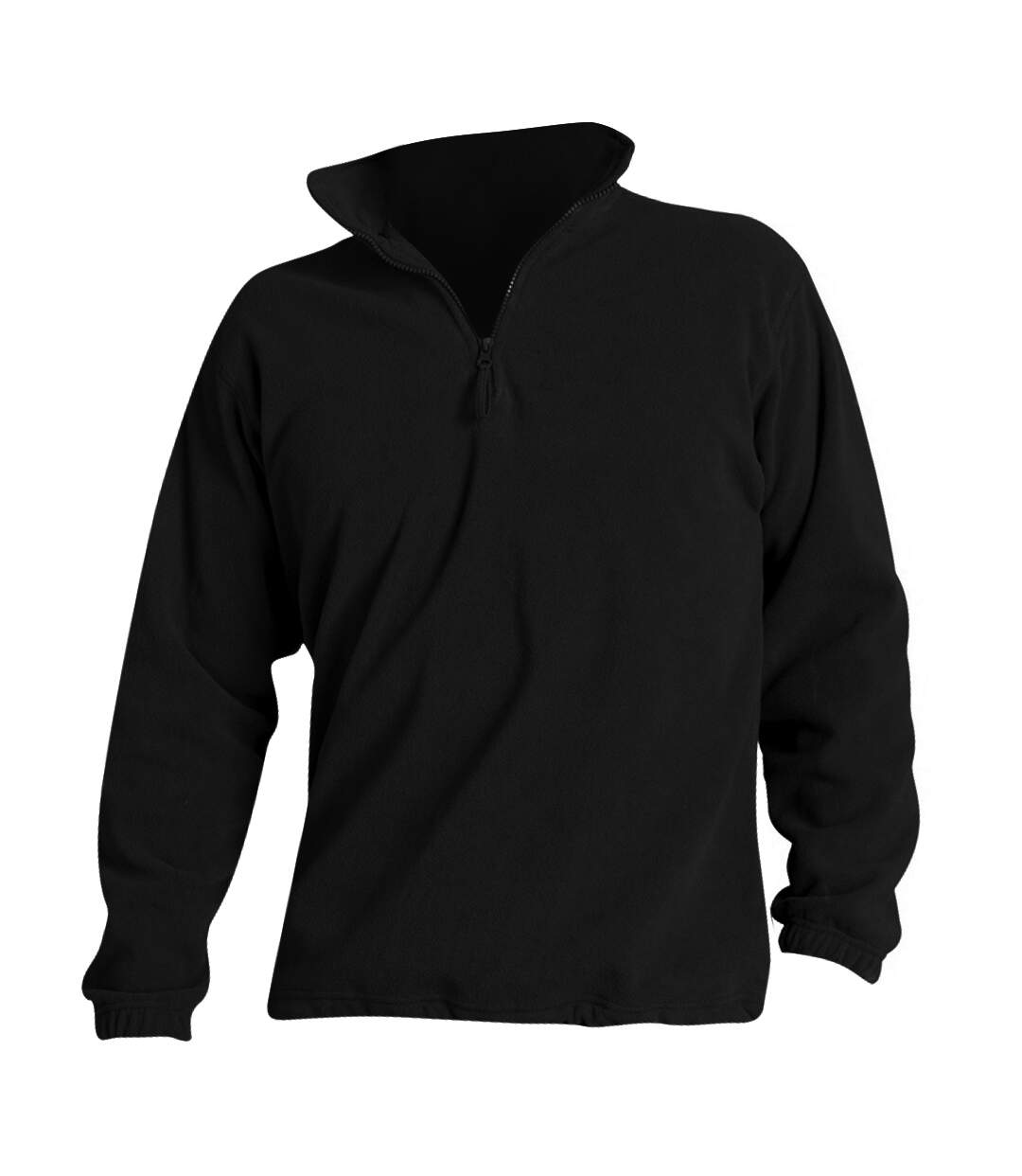 SOLS Ness Unisex Zip Neck Anti-Pill Fleece Top (Black) - UTPC345