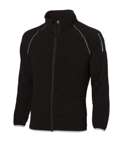 Slazenger Mens Drop Shot Full Zip Micro Fleece Jacket (Solid Black) - UTPF1795