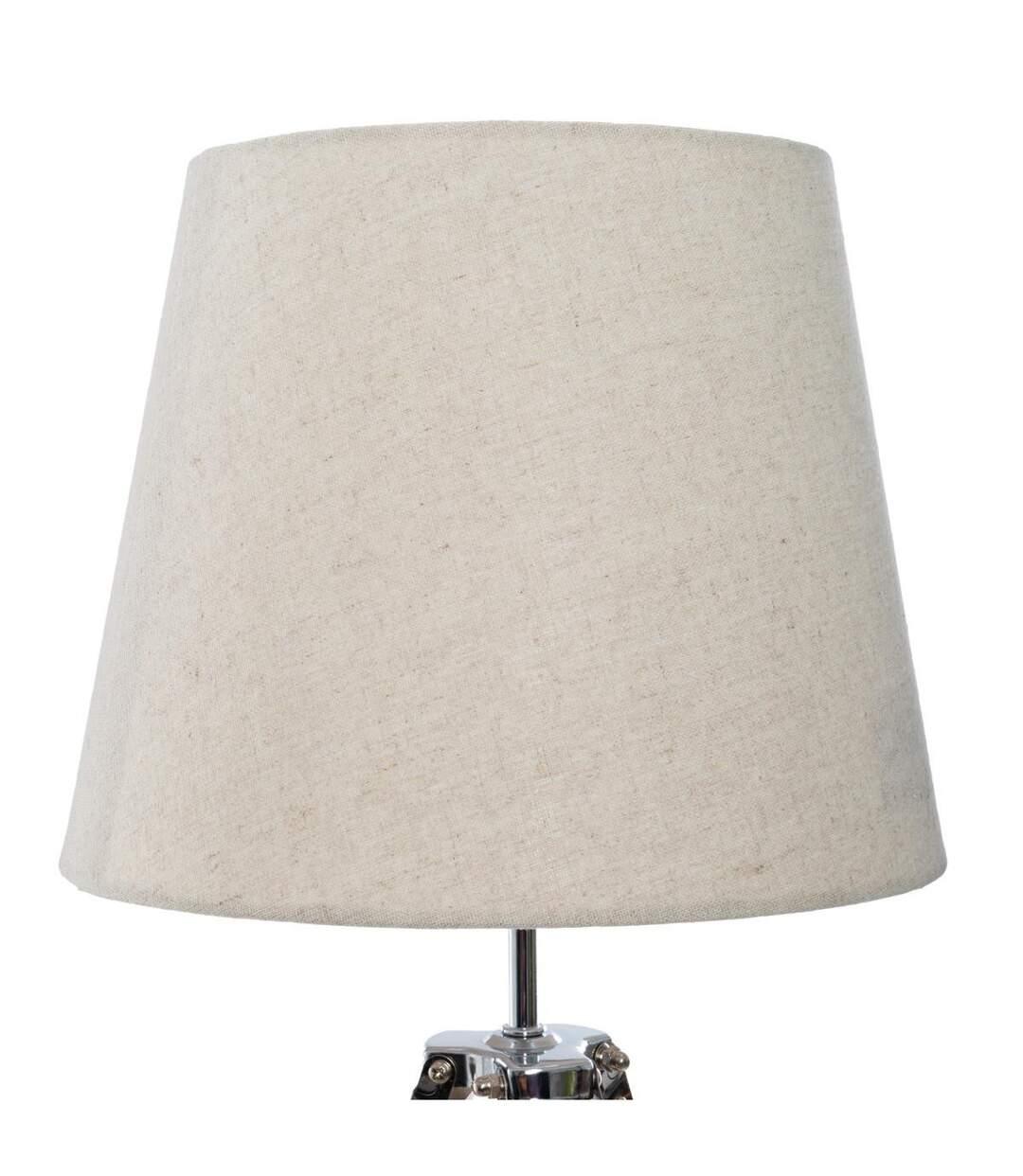 Atmosphera - Lampe Trépied en Bambou et abat-jour beige Runo H 58 cm