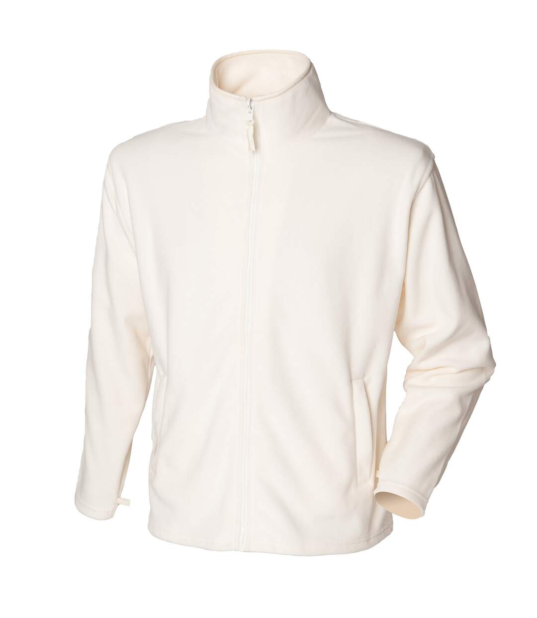 Henbury Mens Microfleece Anti-Pill Jacket (Cream) - UTRW678