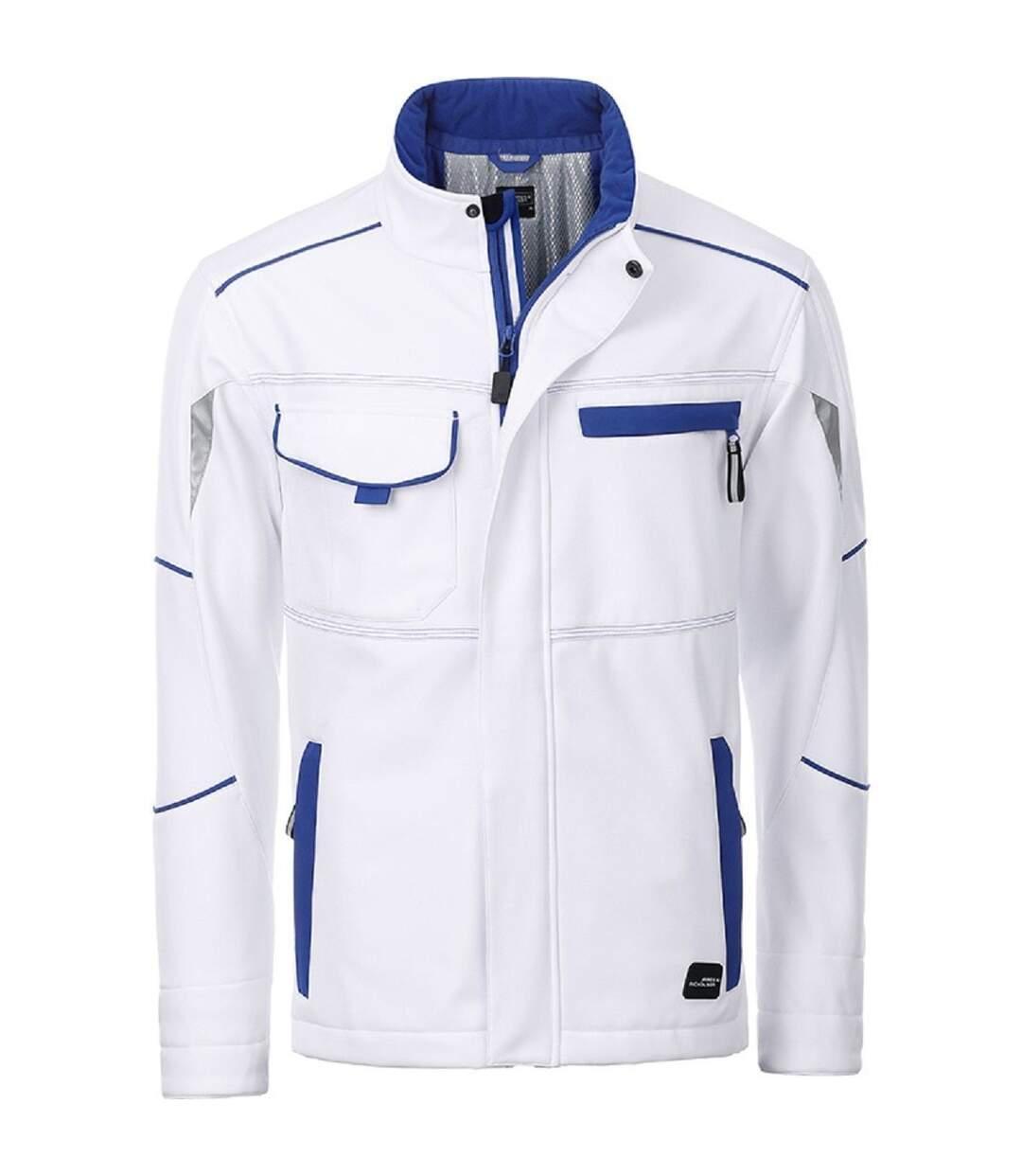 Veste de travail matelassée softshell unisexe - JN853 - blanc