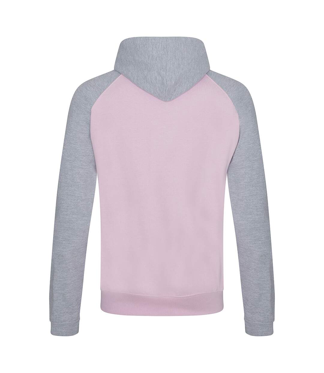 Awdis Just Hoods Adults Unisex Two Tone Hooded Baseball Sweatshirt/Hoodie (Jet Black/Fire Red) - UTRW3928
