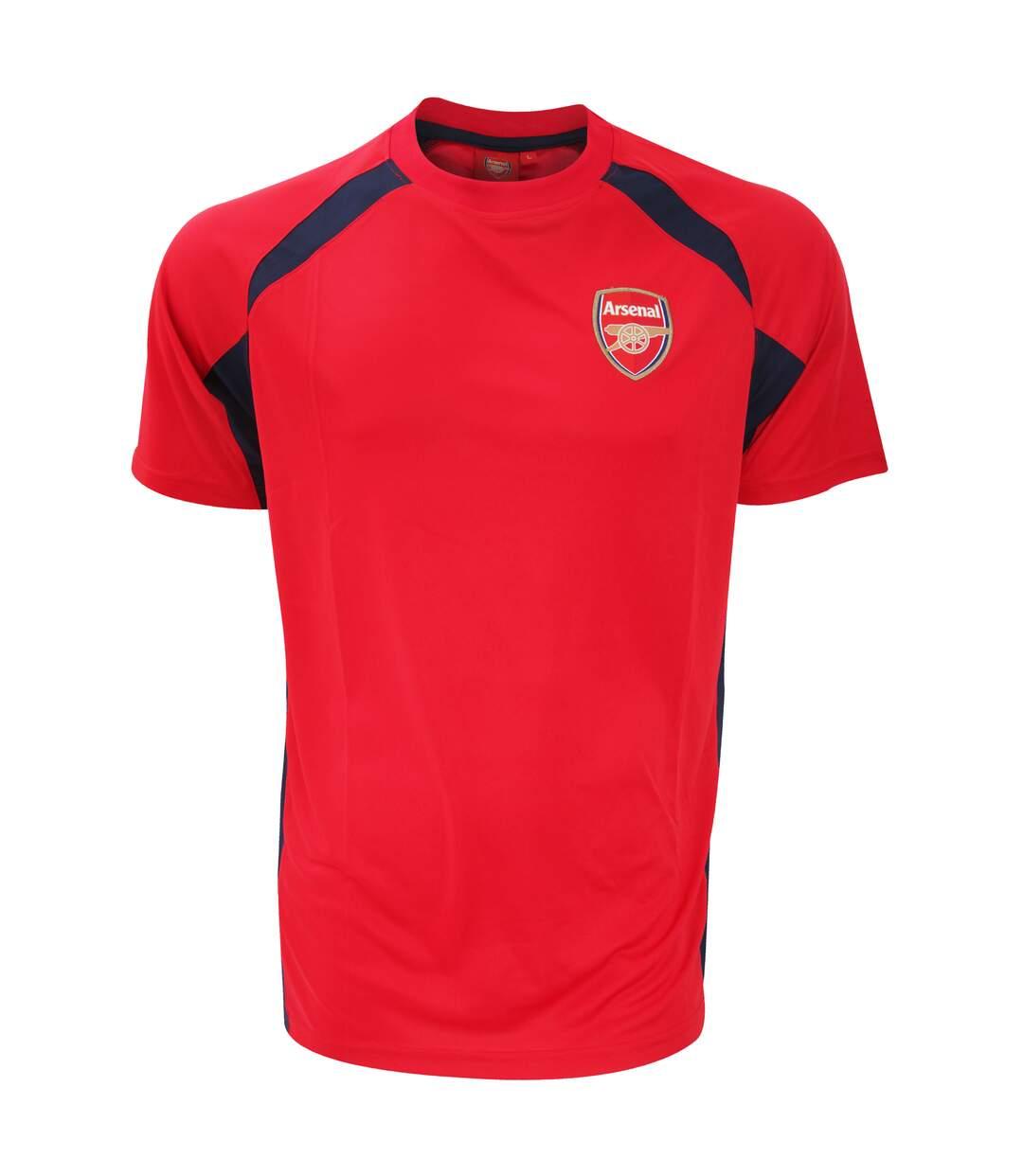 Arsenal FC - T-shirt de sport officiel - Homme (Rouge/Noir) - UTSG2678