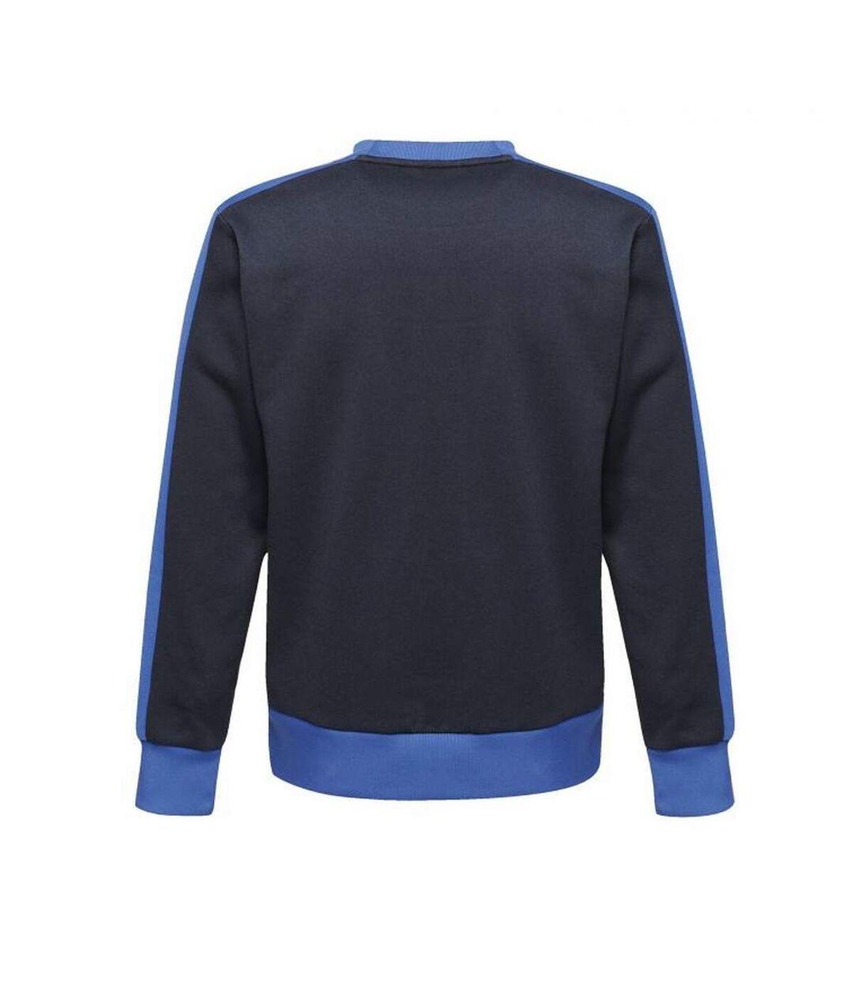 Regatta Pull ras du cou contrasté pour hommes (Marine/Nouveau bleu royal) - UTRW6520