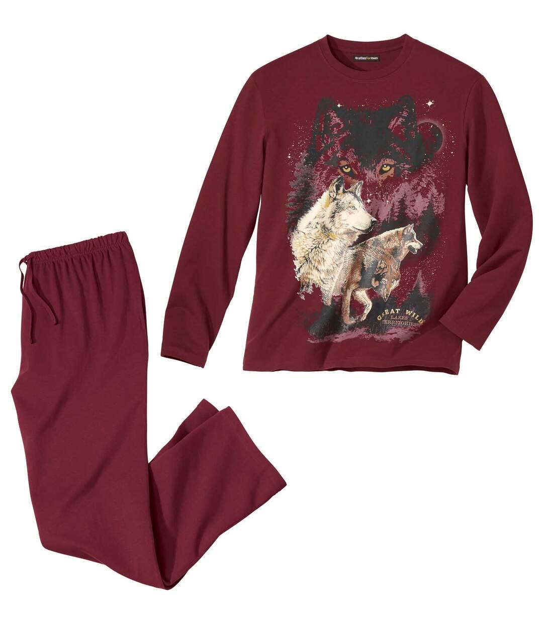 Pyjama Coton Imprimé Loups  Atlas For Men