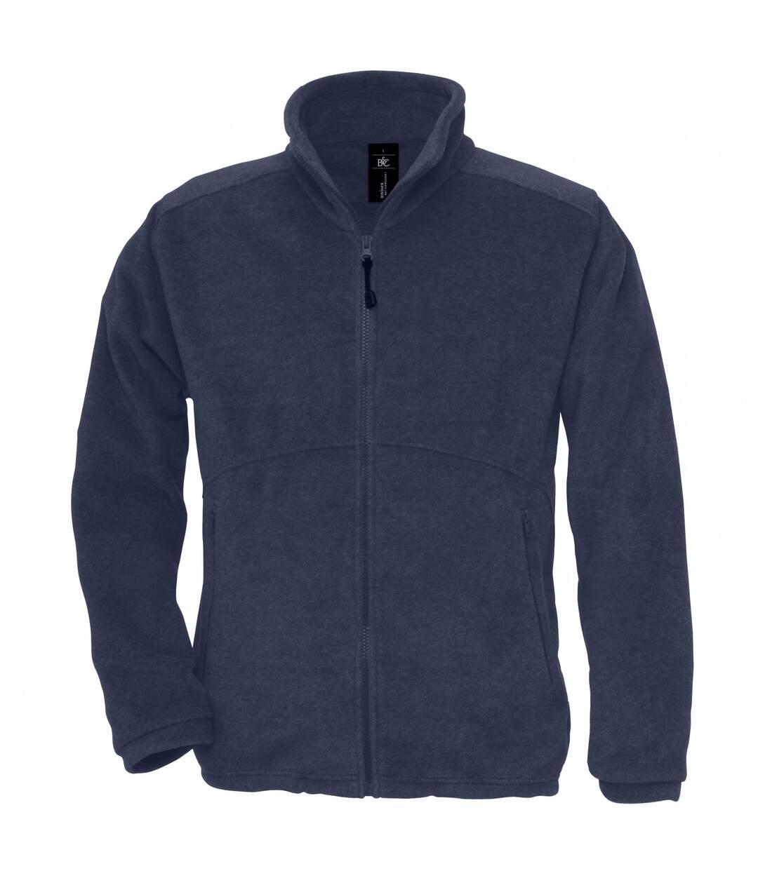 B&C Mens Icewalker+ Full Zip Fleece Top (Charcoal) - UTRW3030