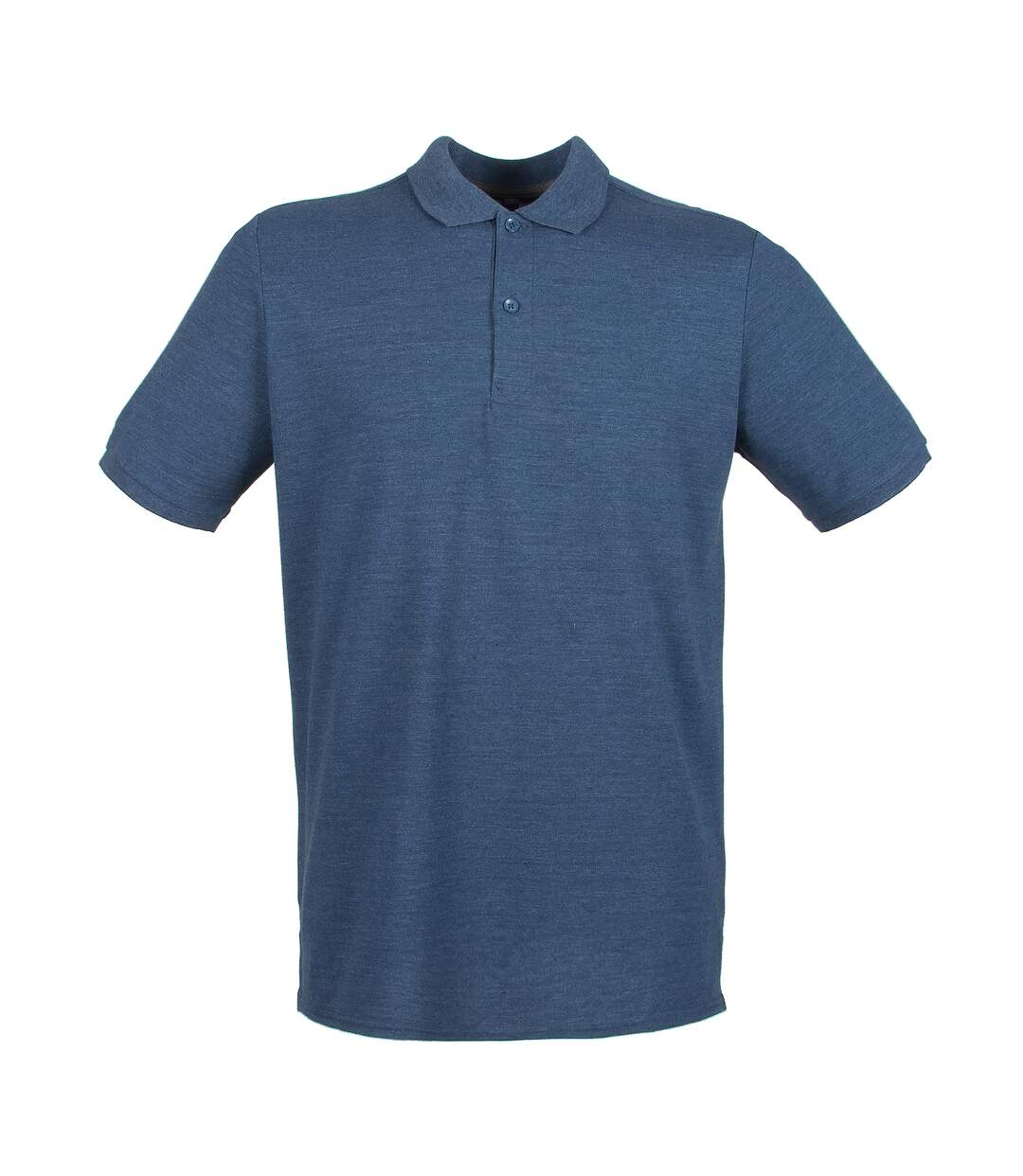 Henbury Mens Modern Fit Cotton Pique Polo Shirt (Heather Navy) - UTPC2590