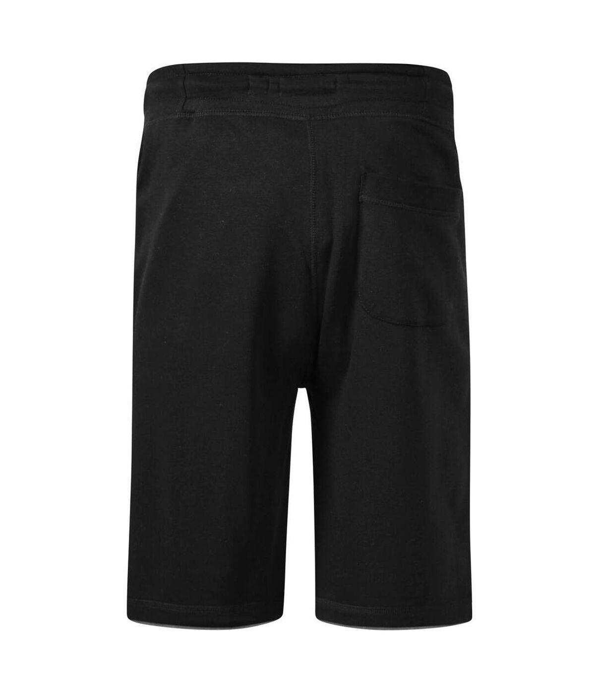 Duke Mens Tompkins D555 Embroidered Fleece Shorts (Black) - UTDC276