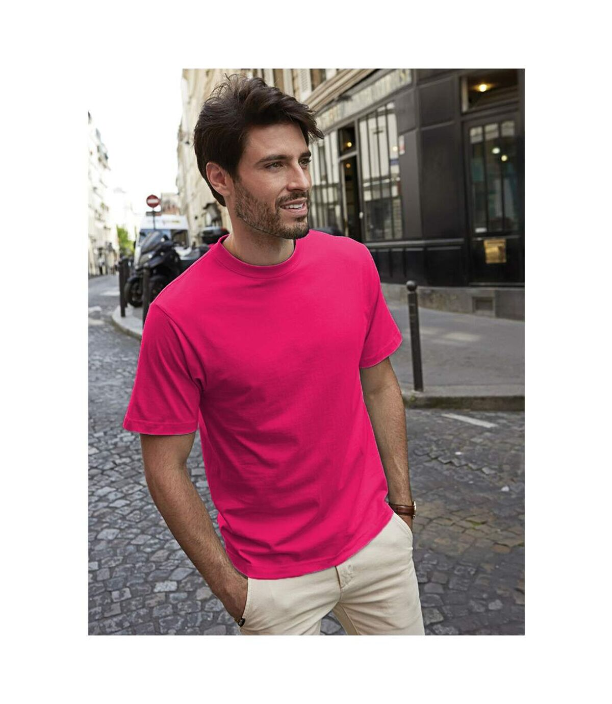 Tee Jays Mens Short Sleeve T-Shirt (Hot Pink) - UTBC3325