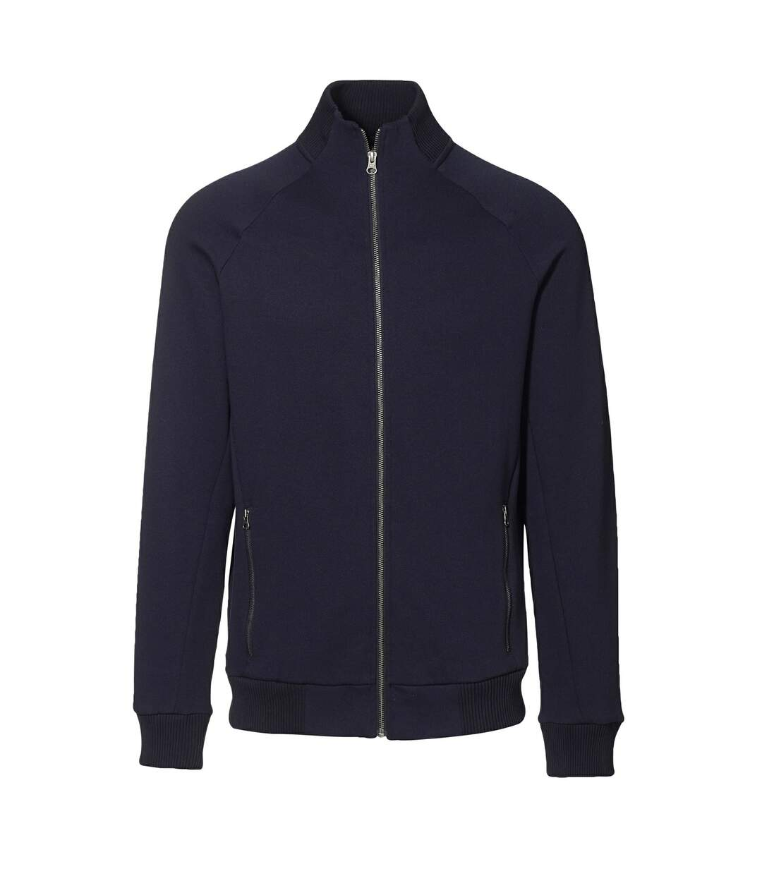 ID Mens Fitted Full Zip Fleece Jacket (Navy) - UTID389