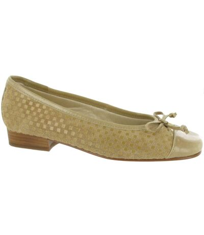 Riva Andros Suede Ballerina / Womens Shoes (Cappuccino) - UTFS374